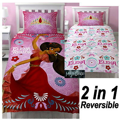 Disney Elena Of Avalor Single Duvet Quilt Cover Set Girls Kids Pink Bedroom New