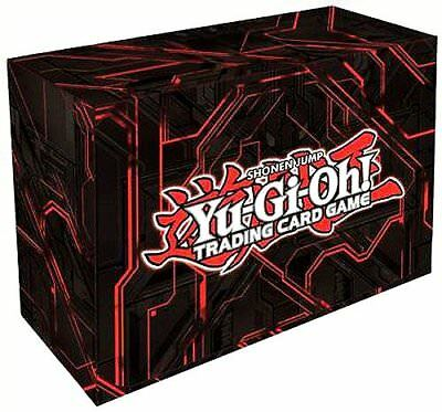 Konami Yugioh Card Game Storage Red Dual Double Deck Box Version #3 - Red