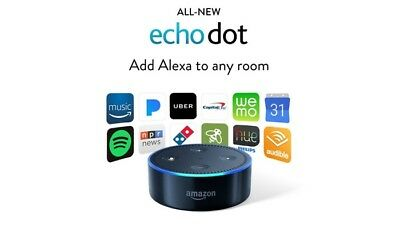 New Sealed Amazon Echo Dot Streamer Black alexa 2nd generation