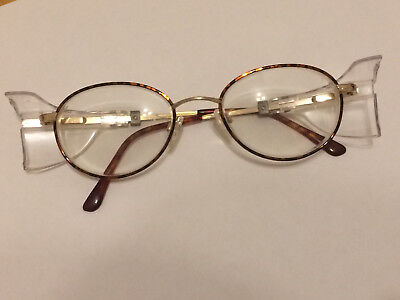 titmus titanium glasses frame gold Z87 140 CS98