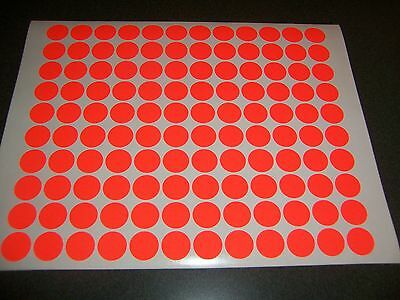 432 FLUORESCENT NEON RED Blank rummage garage yard sale stickers labels tags