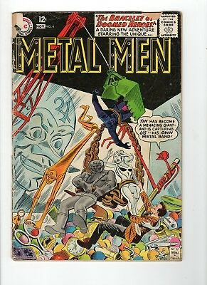 Metal Men Silver & Bronze Age Comic Book Lot - 8 Issues #4 8 20 24 29 32 38 44