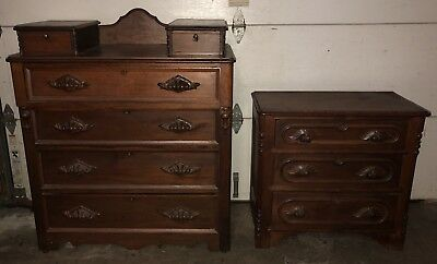 Antique Dresser And Nightstand