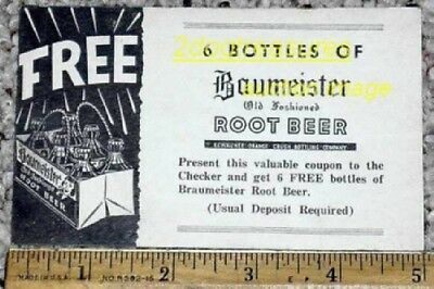 Baumeister Root Beer Kewaunee Orange Crush Btl Coupon Wi Wisconsin Soda Old