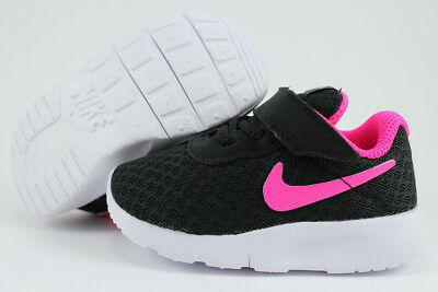 Nike Tanjun Tdv Blackhyper Pinkwhite Strap Slip-On Baby Infant Toddler