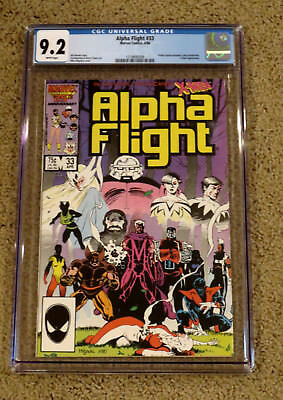 Alpha Flight 33  - CGC 9.2 NM- White Pages - 1st Lady Deathstrike