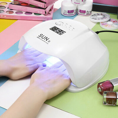 Professional LED+UV Nail Dryer Gel Polish Lamp Light Curing Manicure Machine 54W