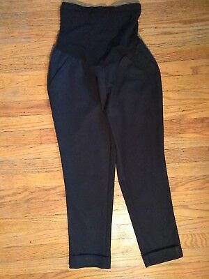 A Pea In The Pod Black 4 pocket Stretch Crop Career Pants -Size extra small