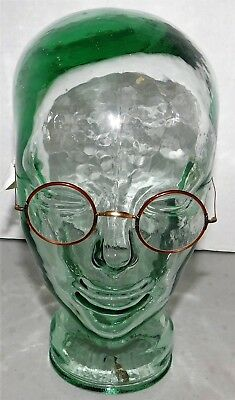 Antique Vintage Round Plastic Frame w/metal ear pieces Eyeglasses-Oxford Look