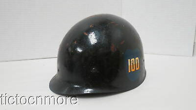 WWII US ARMY M-1 SOLDIERS COMBAT HELMET LINER No. 70 w/ MEN OF THE CENTURY DECAL