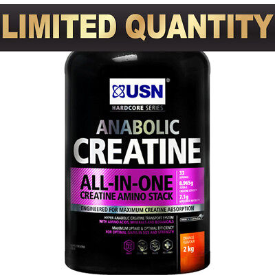 USN Anabolic Creatine 2kg All In One Amino Stack
