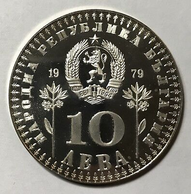 1979 10 LEVA PROOF - BULGARIA * YEAR OF THE CHILD - SILVER -Lot#A122