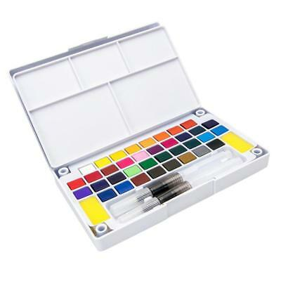 24 Colors Solid Watercolor Paints Set Watercolor Pan Pigment for Painting