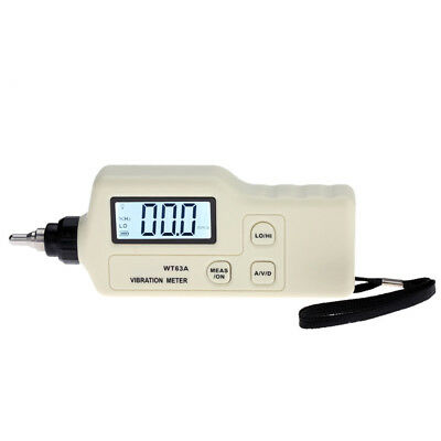 LCD Digital Vibration Meter Analyzer Tester Acceleration/Velocity/Displacement