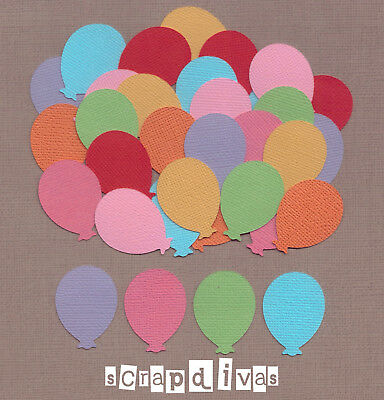 DESIGN 01 - BIRTHDAY BALLOON Die Cuts - Toppers - Cardstock - Scrapbooking x 30
