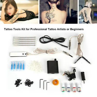 Kit Tatuaje Completo Liner Shader Ink EU Power Needles Arte Cuerpo Profesional