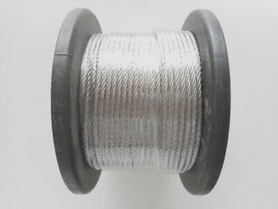 Marine Stainless Steel Gr.316 Wire Balustrade Cable 3.2mm - 1 X 19 - choose qty