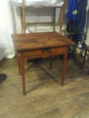 Antique 18th century side table 1 draw
