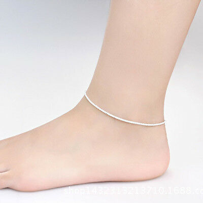 Sexy Simple Silver Plated Color Chain Anklet Ankle Bracelet Foot Jewelry Fashion