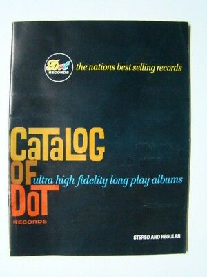 Catalog of Dot Records Stereo and Regular Ultra High Fidelity Albums 1950's