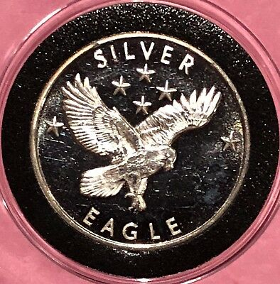 GG Mining Silver Eagle Collectible Coin 1/2 Troy Oz .999 Fine Silver Round Medal