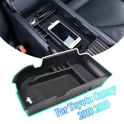 For Toyota Camry 2018 Armrest Storage Box Center Console Glove Tray Holder Case