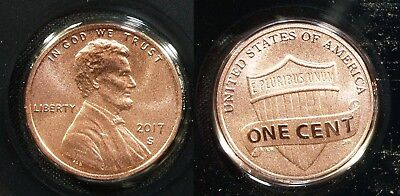 2017-S ENHANCED UNCIRCULATED Lincoln Cent   - FREE SHIP