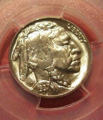 Gem Bu 1937 Buffalo Nickel Pcgs Ms 66 Brilliant Uncirculated