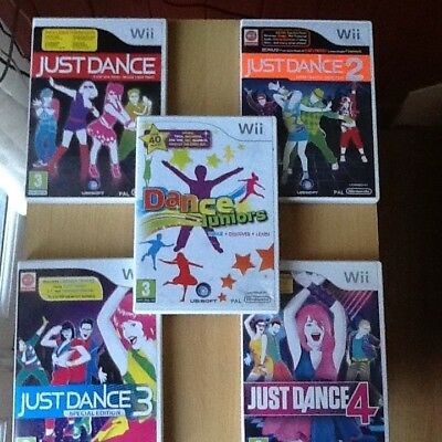 Just Dance 1 2 3 4 & Family Kids juniors party Dancing Games Nintendo Wii Wii U