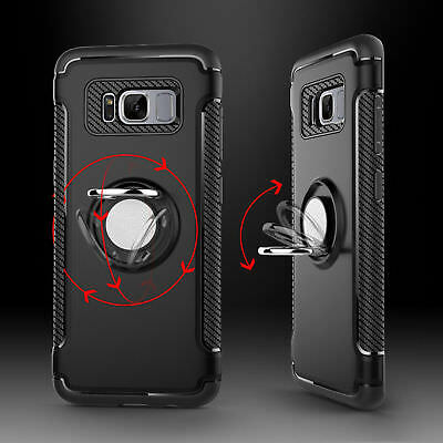 Samsung Galaxy Note 8 Note 9 S8 S9 Plus Ring Stand Holder Shockproof Rugged Case