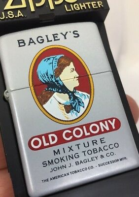 1999 Zippo Lighter Tobacco Tin Series Bagley's Old Colony Mixture 50 Made MIB