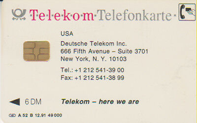 A-52B/91 - USA Deutsche Telekom - Volle - (07)