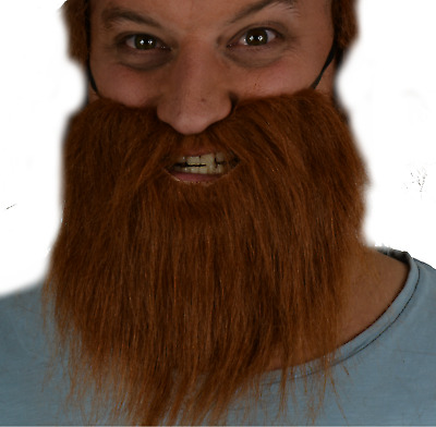Brown Beard, Fancy Dress Accessory. Wizard, Gnome, Old, Dwarf, God. Uk Seller