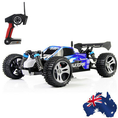 AU! WLtoys A959 1/18 4WD Off-road Vehicle 2.4G 45KM/H Brushed High Speed RC Car