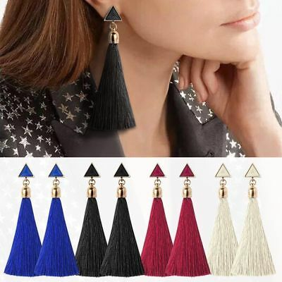 Women Girl Fashion Rhinestone Long Tassel Dangle Earrings Fringe Drop Earrings* Fashion Jewelry Earring Findings