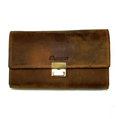 Real Leather Waiter Waitress Bag Wallet Suede Wallet Purse Taxi Wallet