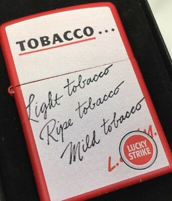 2006 Zippo Lighter Lucky Strike Cigarettes Light Tobacco 2 Side Mint W/Box