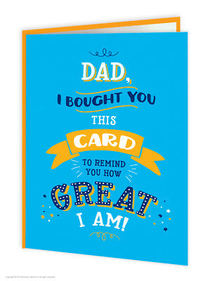 Dad Father Daddy Pop Birthday Greeting Cards Funny Comedy Humour Novelty Joke
