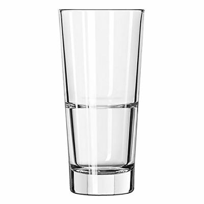 Quality Leadfree Toughened Stackable ENDEAVOUR High Ball Glass 355ml (Set of 12)