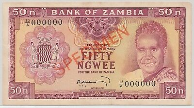 Zambia 50 Ngwee ND(1969) SPECIMEN P.9bs_F