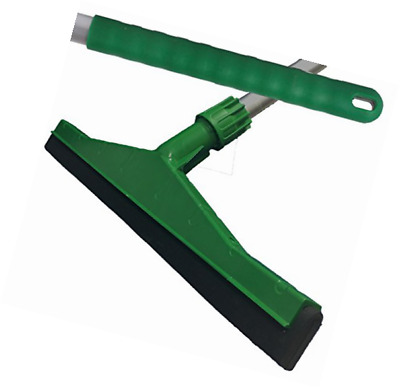 Green Professional Hard Floor Cleaning Squeegee & Strong Alloy Handle For Tiles,