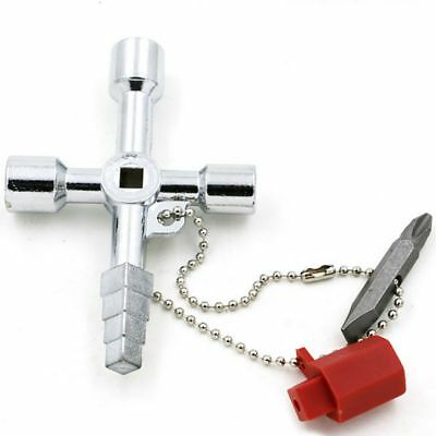 5 In 1 Universal Cross Square Triangle Train Electrical Cabinet Elevator Key