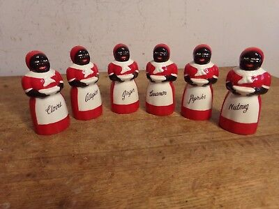Aunt Jemima Spice Set  6 PCS Set  Black Americana COUNTRY HOUSE COLLECTION