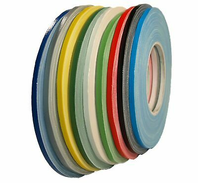 Woven Tape 5mm x 50m Gaffa Tape Extra Narrow Adhesive Tape Shiny Spike Tape