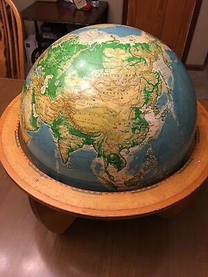 Vintage 1964 Cartocraft Physical-Political 16 inch Globe published by Denoyer-
