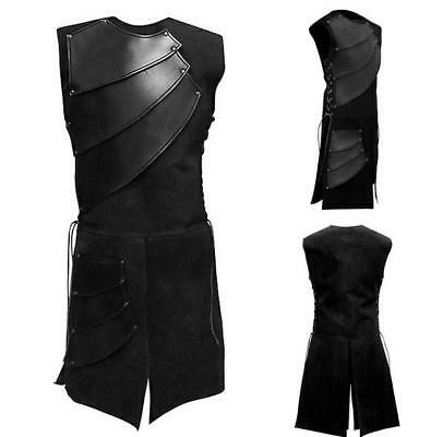 Medieval Gothic Knight Renaissance Patchwork Sleeveless Shirts