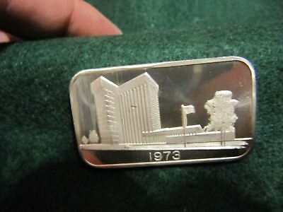 Rare 1973 Middlesex Bank Mass 1 Troy Oz .999 Silver Bar