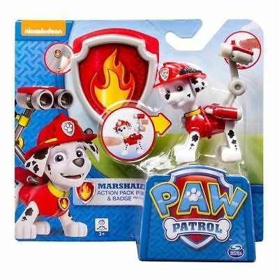 Paw Patrol Pup and Badge - Marshall Authentic Brand New