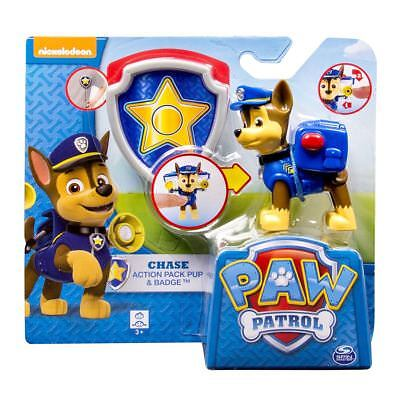 Paw Patrol Pup and Badge - Chase Authentic Brand New