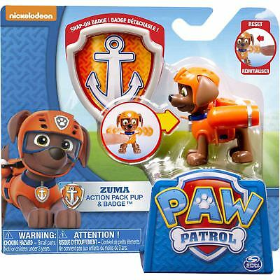 Paw Patrol Pup and Badge - Zuma Authentic Brand New